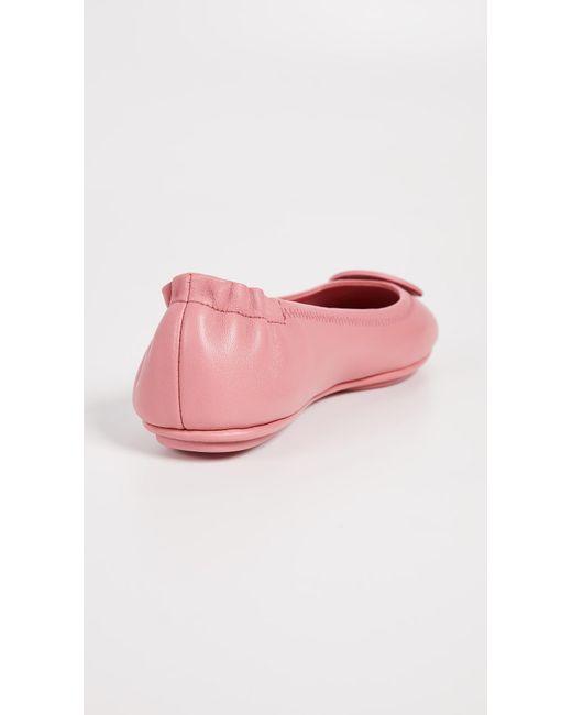 9d8f80cce32c ... Tory Burch - Pink Minnie Ballet Flats - Lyst ...
