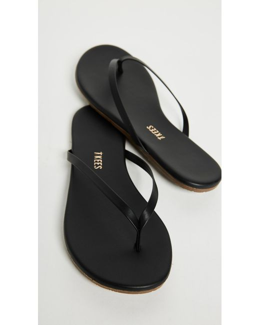 Tkees Leather Liners Flip Flops In Black - Lyst-6106