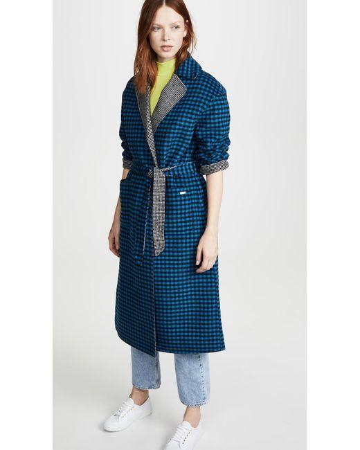 Scotch & Soda Blue Reversible Wool Jacket