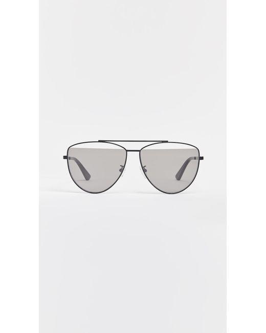McQ Alexander McQueen - Gray Iconic Pilot Frame Sunglasses - Lyst