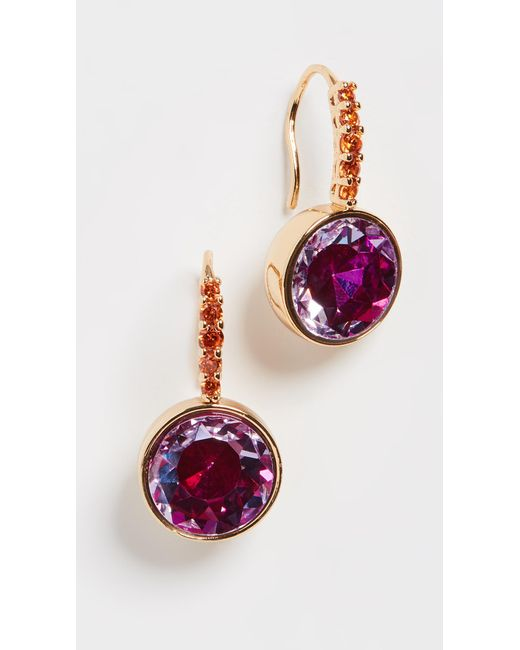 Kate Spade Pink Pave Round Drop Earrings