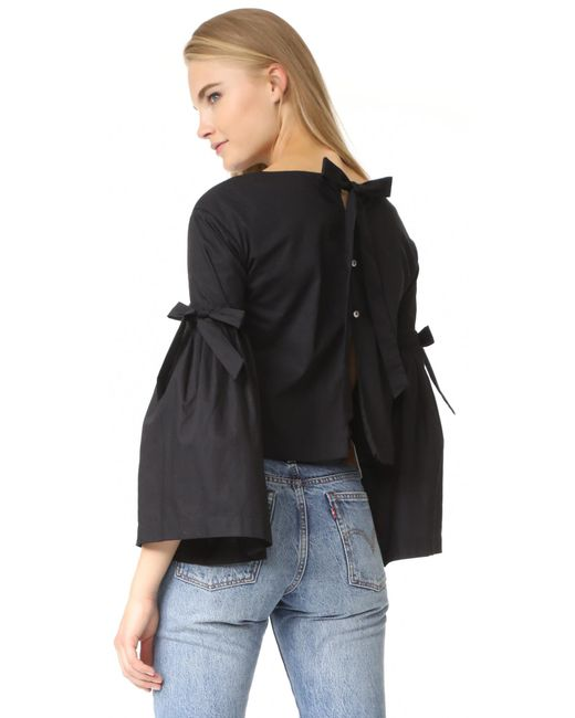 Free People | Black So Obviously Yours Top | Lyst