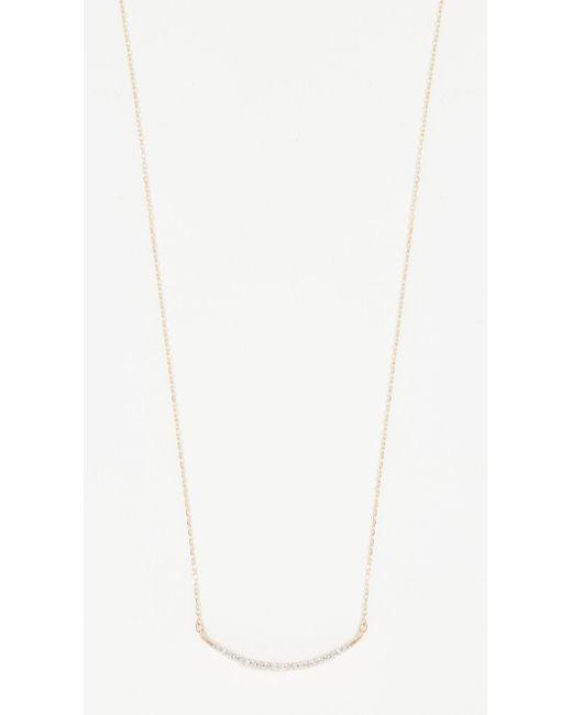 Adina Reyter - Metallic Large Pave Curve Necklace - Lyst