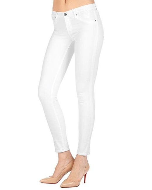 Ag jeans Ag The Legging Ankle Jeans In White in White | Lyst