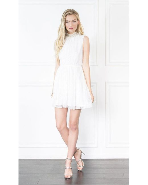 Rachel Zoe | White Yates Lace Mini Dress | Lyst
