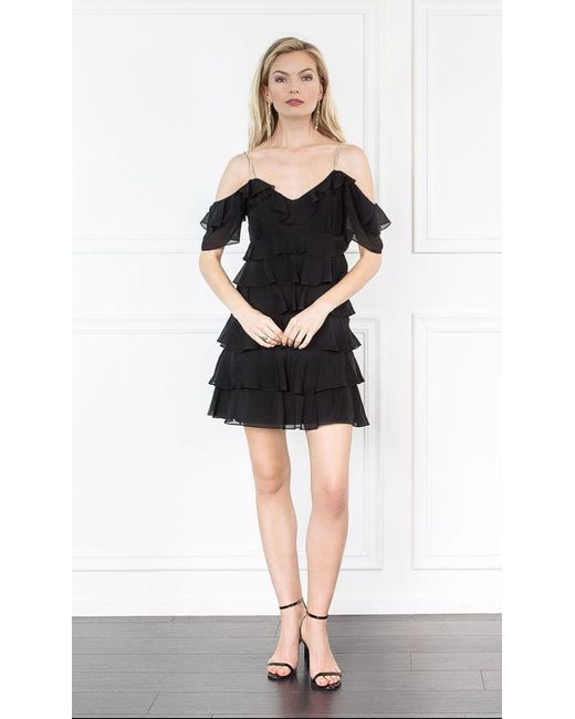 Rachel Zoe   Black Persei Silk Mini Dress   Lyst