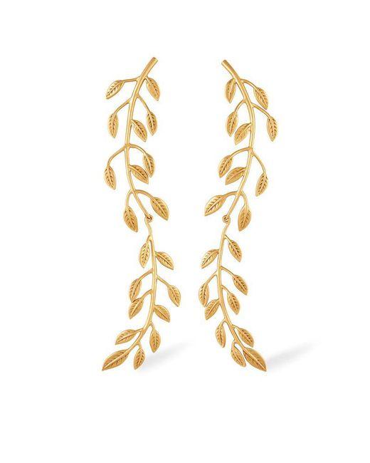 Rachel Zoe   Metallic Sania Leaf Drop Earrings   Lyst