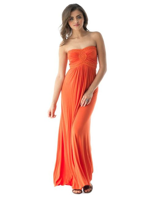 Sky - Orange Hajjah Maxi Dress - Lyst
