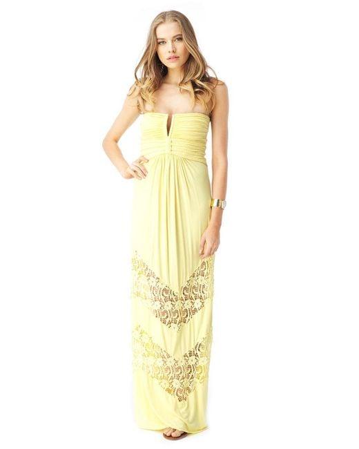 Sky   Yellow Quike Maxi Dress   Lyst