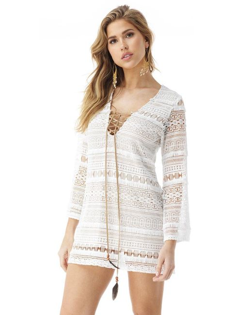 Sky - White Madoka Mini Dress - Lyst