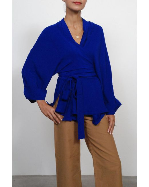 Rodebjer - Kimono Tennessee Twill In Deep Sea Blue - Lyst