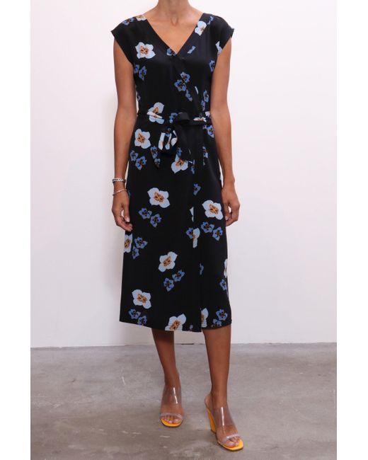 No. 6 It's A Wrap Dress In Blue Amalfi
