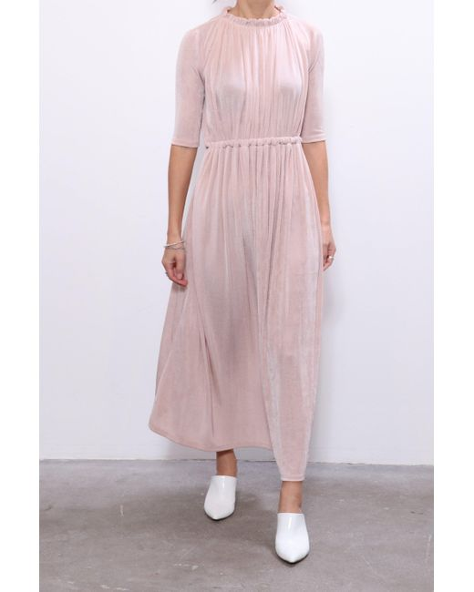 Rachel Comey Synthetic Gusta Dress In Oyster In Pink Lyst