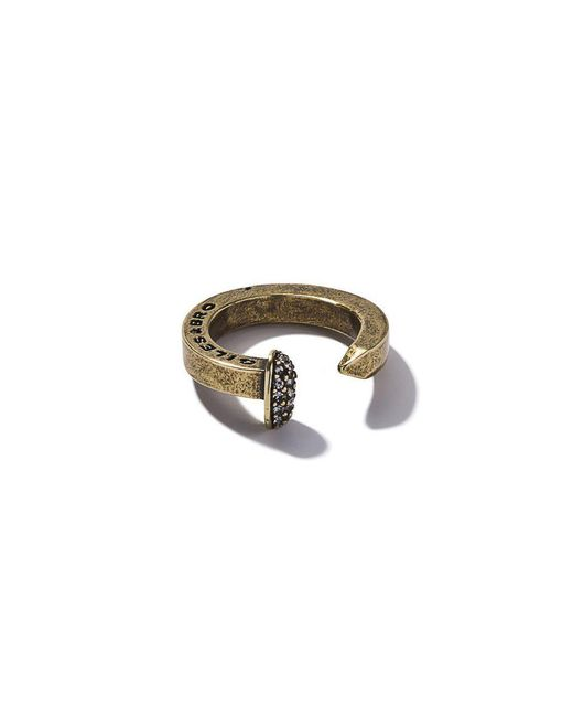 Giles & Brother - Metallic Brass Ox Railroad Spike Ring - Lyst