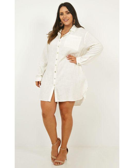 c2d76811a6 ... Showpo - White Island Solitude Dress - Lyst ...
