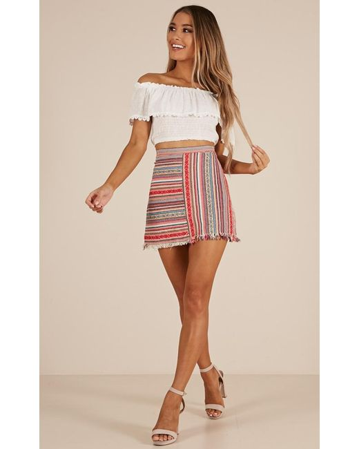 c1fdbdf6cd ... Showpo - Pink Spice Your Life Skirt - Lyst ...