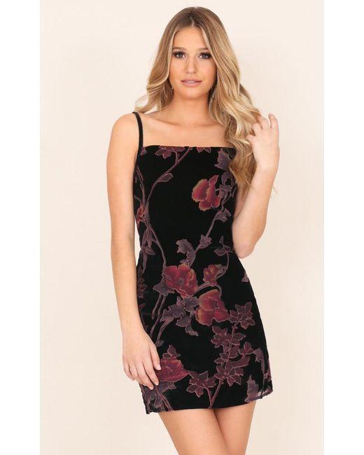 Showpo Here We Go Again Dress In Black Floral