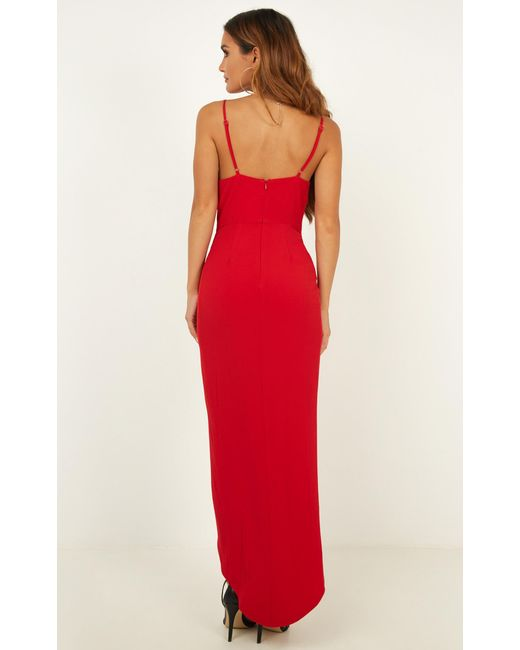 edca1b5fb65 ... Showpo - Red Lucky Day Maxi Dress - Lyst ...