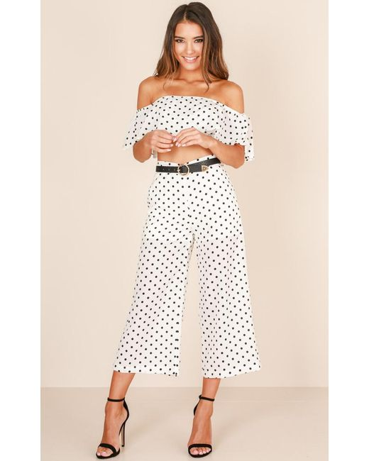 Showpo | Turning Back Time Two Piece Set In White Print | Lyst