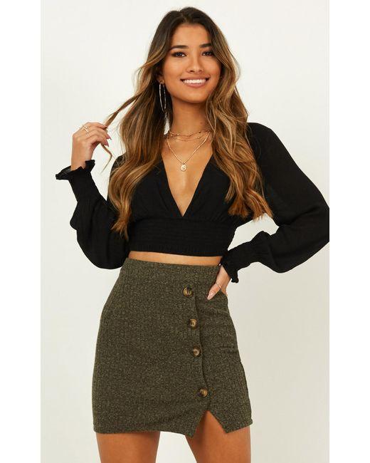 Showpo Multicolor Nothing New Knit Skirt