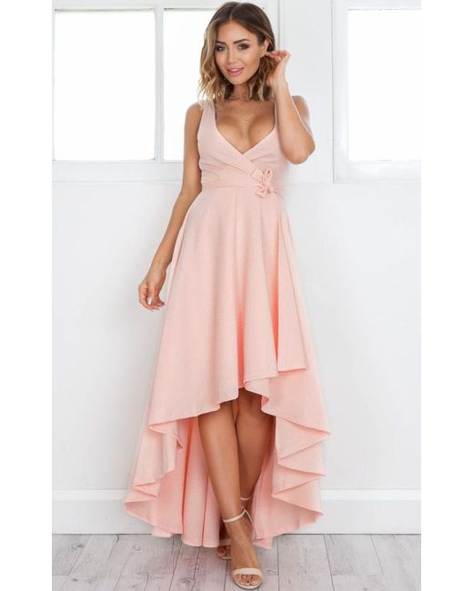Showpo - Pink Magic Dancer Dress In Blush - Lyst