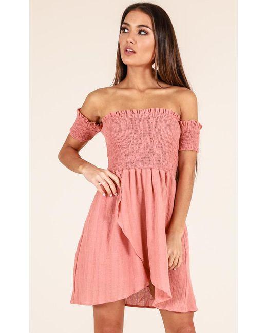 Showpo   Pink Got Your Own Way Dress In Rose   Lyst