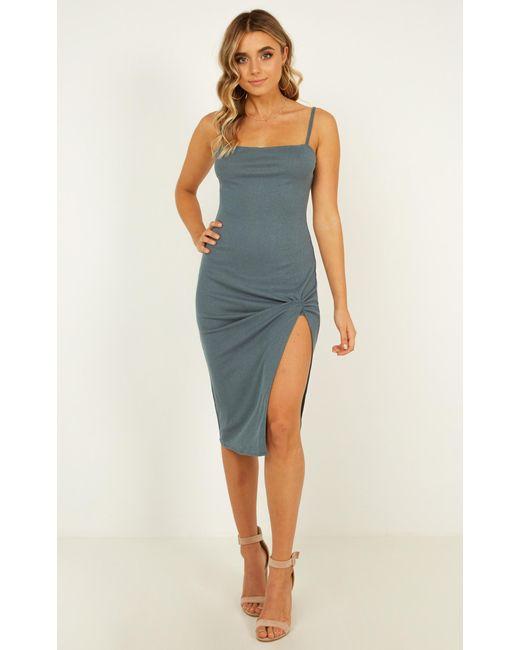 451bd3cb80f Showpo - Blue With Every Heartbeat Dress - Lyst ...