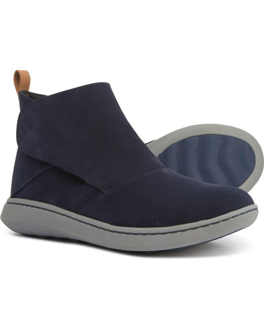 Clarks Blue Step Move Up Ankle Boot, Navy Synthetic, 095 W Us