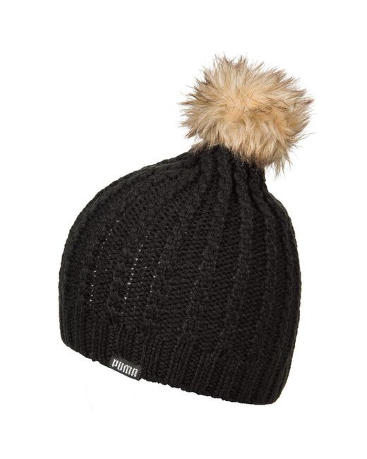 PUMA - Black Evercat Quill Pom Beanie (for Women) - Lyst