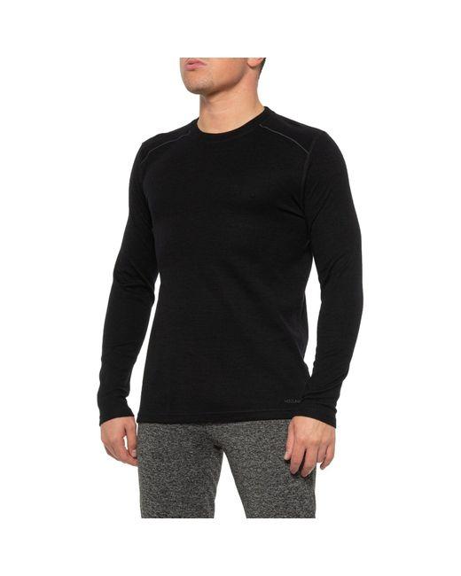 Terramar Black Thermawool Merino Woolskins Base Layer Top for men