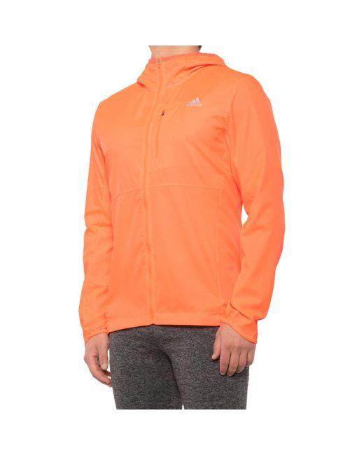 Adidas Orange Own The Run Jacket for men