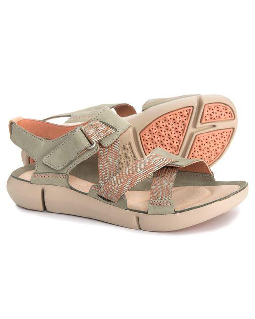 064609b5447e Lyst - Clarks Tri Clover Sandals in Green