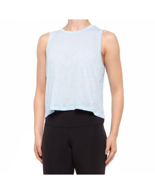 90 Degrees Blue High-low Muscle Tank Top