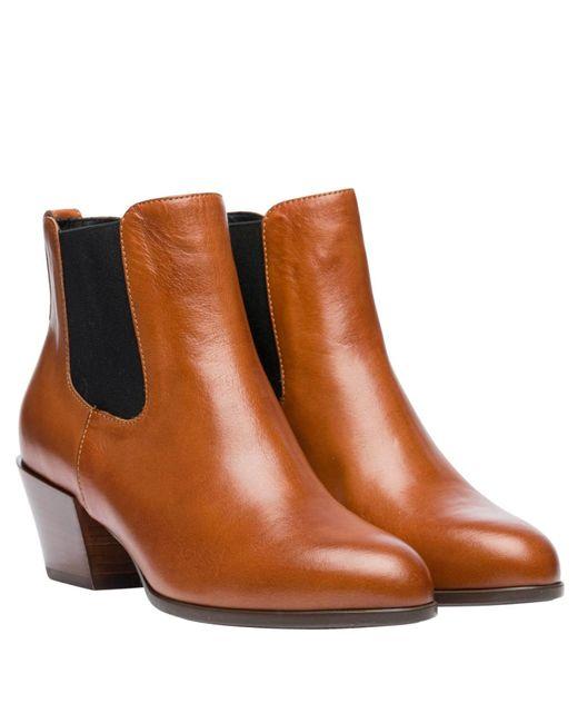 Hogan Brown Stiefel aus Leder