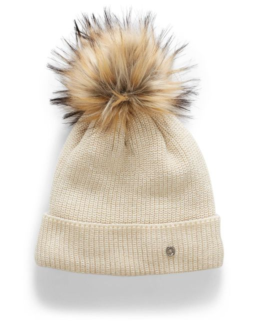 Chaos White Aster Pompom Tuque