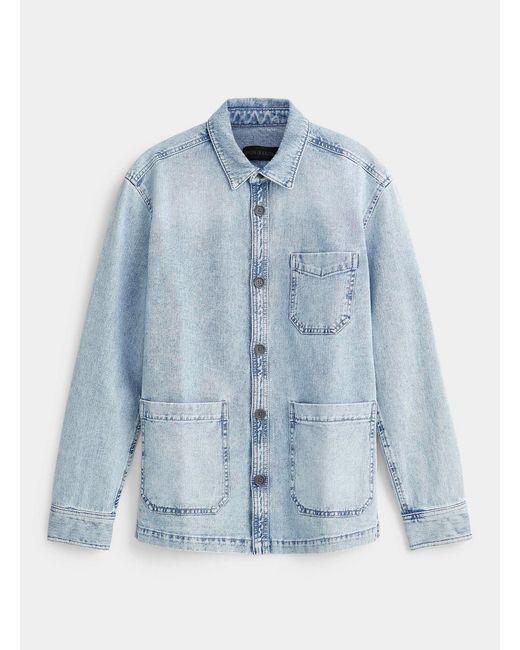 Drykorn Blue Faded Denim Overshirt for men