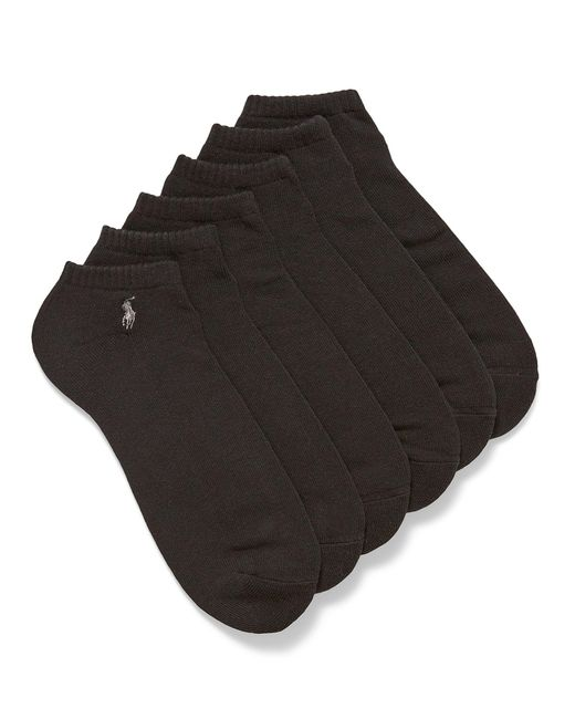 Polo Ralph Lauren Black Classic Sport Ped Socks 6 for men