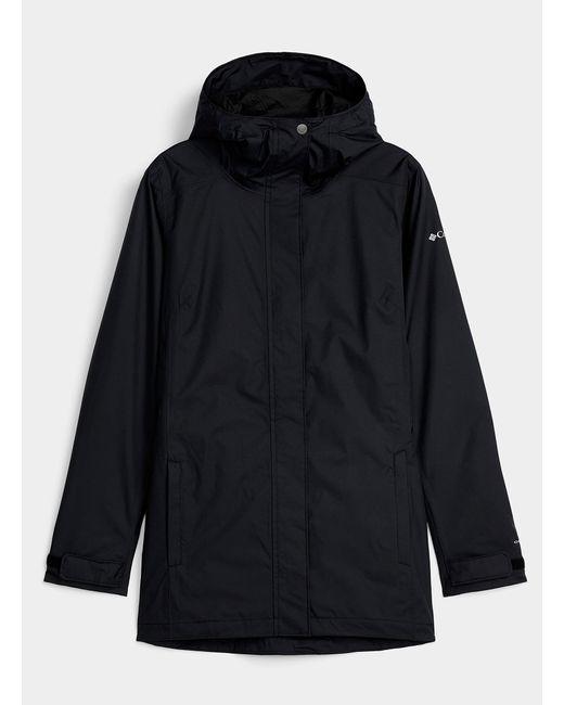 Columbia Black Splash A Little Hooded Raincoat Long Fit