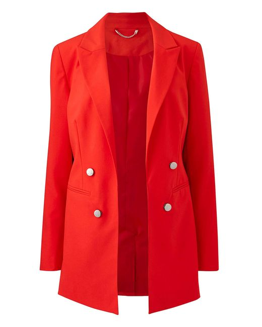Simply Be Mix And Match Red Edge To Edge Blazer