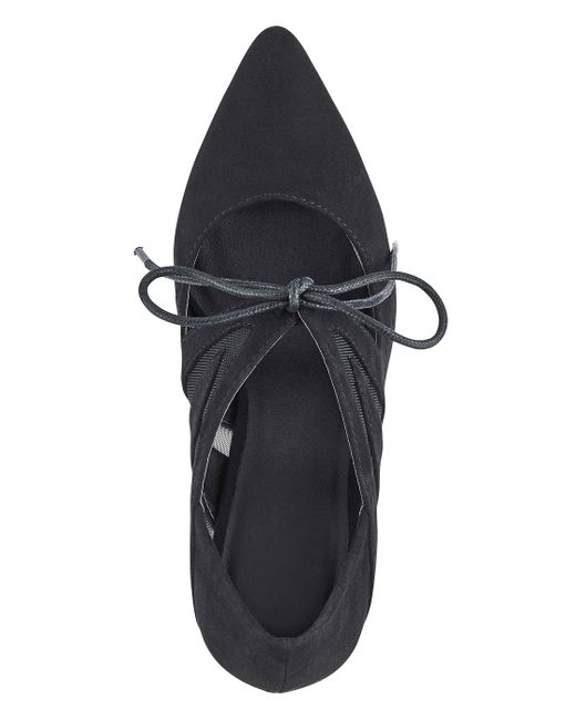 9a9e483e72d2 ... Simply Be - Black Sole Diva Tara Tie Point Shoes Extra Wide Eee Fit -  Lyst ...
