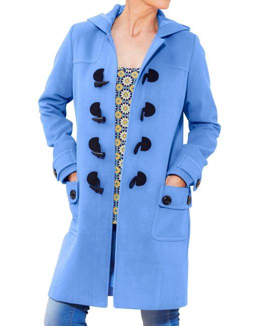Simply Be - Blue Duffle Coat - Lyst