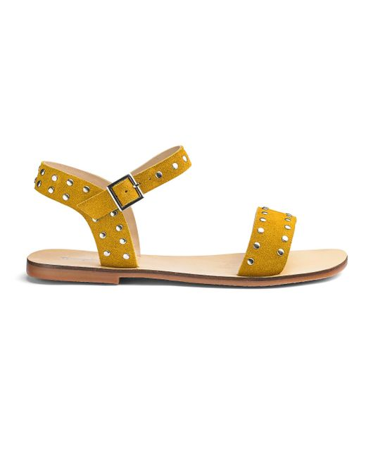 Simply Be - Multicolor Miranda Leather Stud Sandals - Lyst