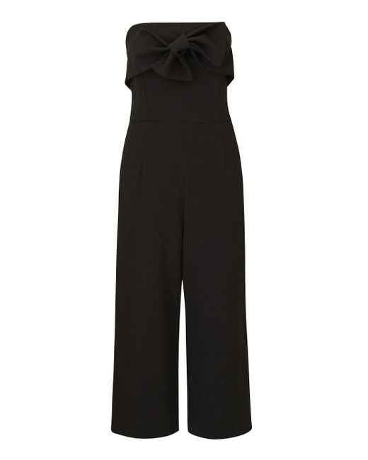 Simply Be - Black Joanna Hope Bow Detail Jumpsuit - Lyst