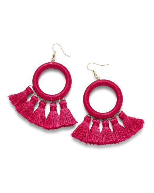 Simply Be - Pink Thread Earrings - Lyst