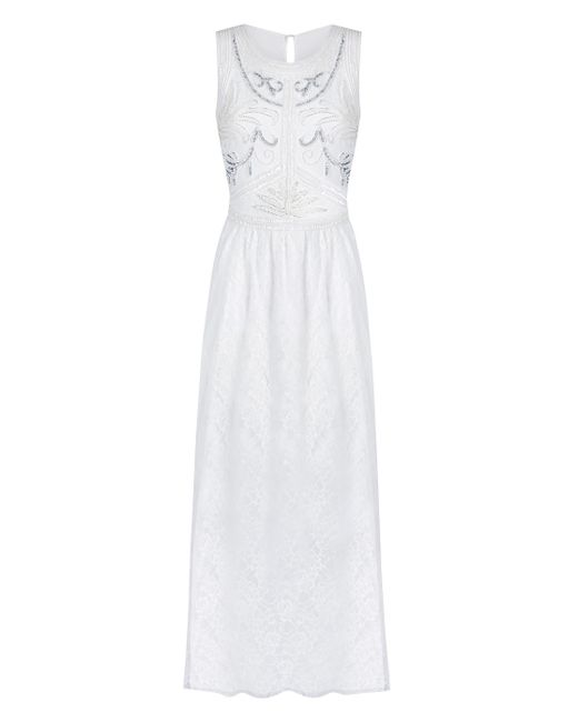 Simply Be - White Joanna Hope Lace Bead-trim Maxi Dress - Lyst