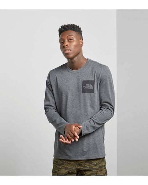The North Face | Gray North Face Long Sleeved T-shirt for Men | Lyst