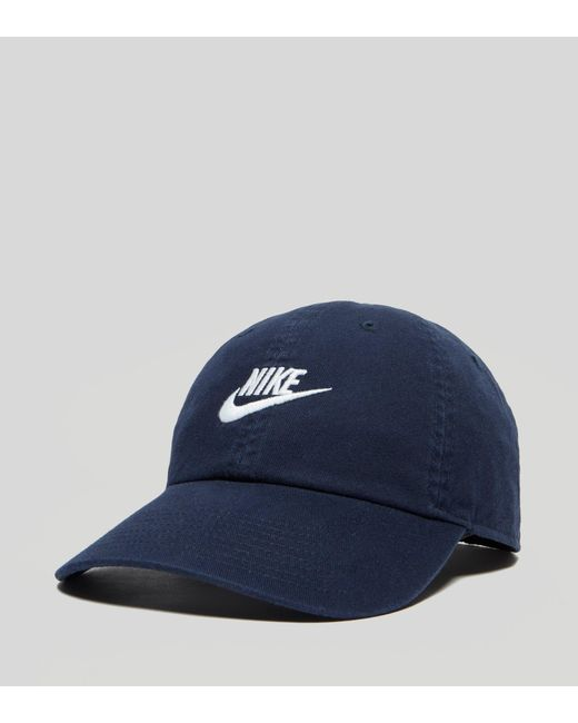 info for 99d08 1d910 Nike - Blue Futura Washed H86 Cap for Men - Lyst ...