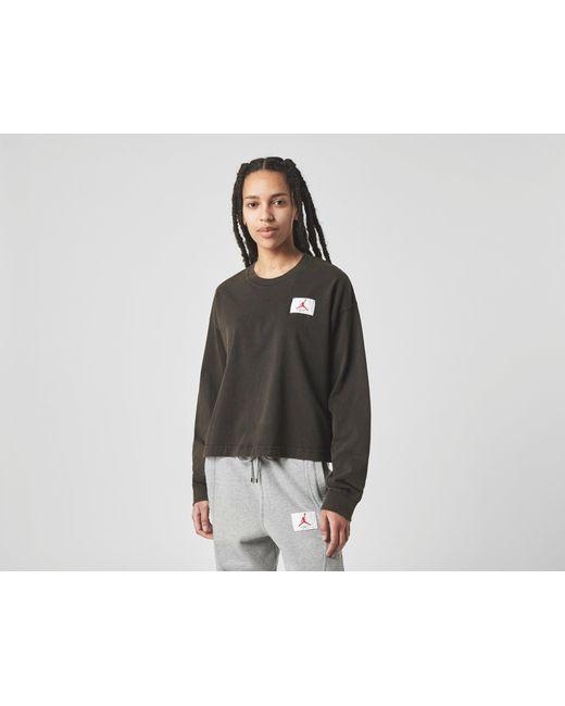 Nike Black Long Sleeve Essential Boxy T-Shirt Women's