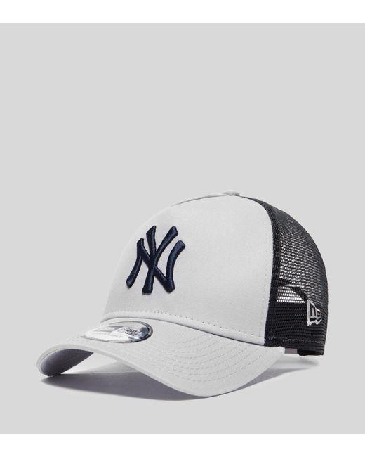 KTZ - Gray A Frame New York Trucker Cap for Men - Lyst