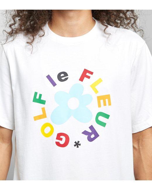 4ae9e809e26f ... Converse - White X Tyler Golf Le Fleur T-shirt for Men - Lyst ...